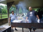 Our guys man the grill! Ira and Brian doin' their thing.  Delish!!